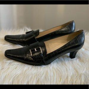 Etienne Aigner Amherst black leather heels 8M